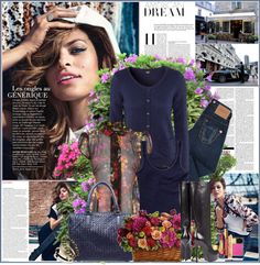 """Eva Mendes"" by kristina01 ❤ liked on Polyvore"