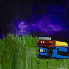 """Under the Purple Sky"" by Cheryl Finfrock  24"" x 24"" acrylic/canvas 2012"