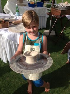 Liam showing off his pottery project