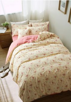 Flowers And Plants Floral Pink Bedding Girls Bedding Teen Bedding Kids Bedding