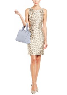On ideel: Gold Metallic Print Sheath AMY MATTO Brynn Dress $100