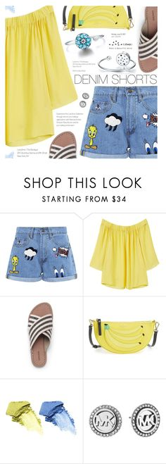 """The Final Cut: Denim Shorts"" by totwoo ❤ liked on Polyvore featuring Paul & Joe Sister, MANGO, Lands' End, Kate Spade, NARS Cosmetics and Michael Kors"