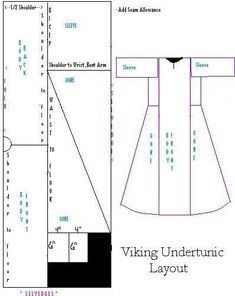 Maid and Anachronism: Viking Underdress Maid-en Anachronism: Viking Underdress Maid and Anachronism: Viking Underdress Viking Tunic, Viking Dress, Norse Clothing, Medieval Clothing, Viking Reenactment, Medieval Costume, Viking Pattern, Medieval Dress Pattern, Clothing Patterns