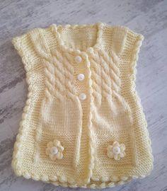 Çok Beğenilen 75 Bebek Hırka Yelek Bere Elbise Örgü Modeli Bandana, Sweaters, Fashion, Knit Vest, Cable Knit Cardigan, Templates, Beret, Made By Hands, Tricot