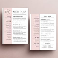 Template Cover Letter Modern Resume Template For Word 13 Page Resume  Cover Letter  .