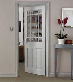 Downham Clear Pine glazed door