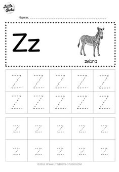 Letter Z Worksheet for Preschool Free Letter Z Tracing Worksheets Printable Alphabet Worksheets, Letter Worksheets For Preschool, Writing Practice Worksheets, Preschool Writing, Preschool Letters, Preschool Printables, Printable Coloring, Letra Script, Tracing Letters