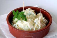 Patatas con mayonesa y perejil - El Tercer Brazo http://eltercerbrazo.com/patatas-con-mayonesa-y-perejil/