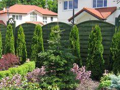 Drewniane panele ogrodzeniowe łukowe