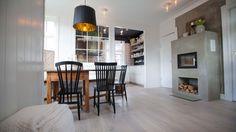 DELIKAT: Dette kjøkkenet ble laget i første program av Tid for hjem, sesong 14. Fliser Original Style type Empire black on Dover 15,1X15,1 levert av Modena Fliser Bergen