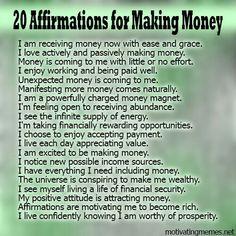 Money making affirmations