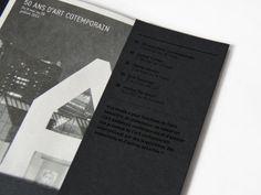 Dépliant exposition 2014 MAC . Identité visuelle on Editorial Design Served