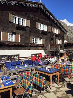 Pit stop for coffee! Zum See Restaurant in Zermat. Switzerland. Leoloveszermatt 13.03.15