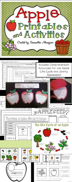 What better way to kick off the Fall season than with this collection of apple themed printables and activities! Can be adapted for grades 1-3.