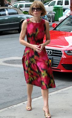 Sunday chic: Vogue editor Anna Wintour arrived to the Greenwich Hotel in New York City Sunday looking fresh and starched