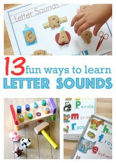 learning letter sounds - fun ways to learn sounds letters make.