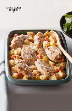 Poulet, légumes et pommes de terre au four #recette