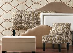 We love the look of a custom-upholstered headboard (especially with a coordinated bench!).  I have enjoyed the comfort and style of an upholstered headboard #HomeDecorators.
