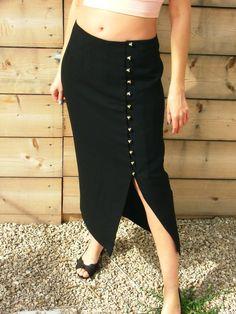 Sale.Skirt.Maxi skirt.Black skirt.Skirts.Vintage by shpirulina