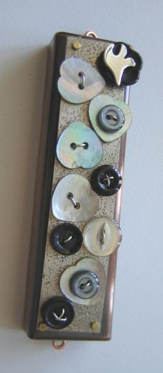 Buttons to Remember Mezuzah by ruthshapiro on Etsy, $170.00