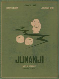 """Jumanji"" Minimalist Movie Poster / Joe Johnston © Doab Choudhuri"
