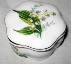 Hammersley Spode Bone China Lily of the Valley Trinket Box (03/12/2012)