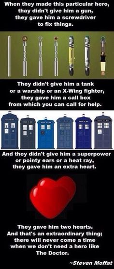 There will never come a time when we won't need a hero like the Doctor!