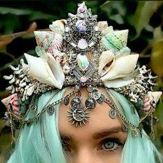 Mds q coroa de conchas linda sereismo🐚👸