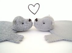 Bear Rug Coaster Set of Two by dandyrions on Etsy