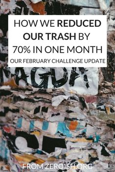 HOW WE REDUCED OUR TRASH BY 70% IN ONE MONTH | Zeroish