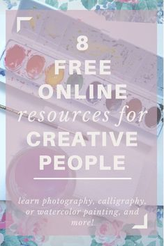 I've rounded up a bunch of free online resources such as tutorials, courses, webinars, and DIYs to teach you all about the creative skills you've always wanted to know! Check it out if you want to learn photography, calligraphy, watercolor painting, video production, or any other creative or tech related skill!