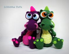 Crochet toy Amigurumi Pattern - Dragon