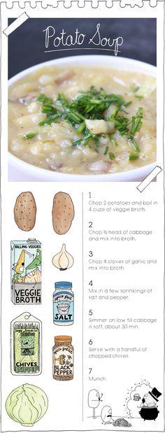 The Vegan Stoner's Potato Soup. Simple & Delicious!