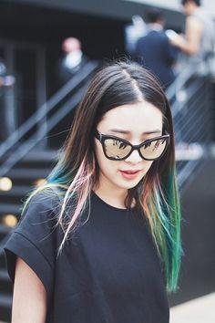 Irene Kim rainbow hair