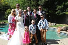 One of my favorites of the day!  I loved how my brother's family added to the fun spirit of the day---the married couple's love is bright they had to wear shades!!! :)