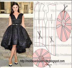 Another beautiful dress pattern Diy Clothing, Sewing Clothes, Clothing Patterns, Dress Patterns, Sewing Patterns, Fashion Sewing, Diy Fashion, Ideias Fashion, Fashion Dresses