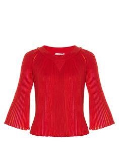 Multicoloured-insert pleated sweater | Sonia Rykiel | MATCHESFASHION.COM US