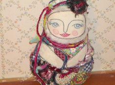 Matryoska Babushka  Textile Art Doll  by MysticHillsNgaroma