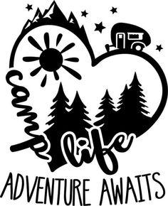 Cricut Fonts, Cricut Vinyl, Vinyl Decals, Camping Signs, Camping Life, Vinyl Crafts, Vinyl Projects, Charger Plate Crafts, Wedding Cups