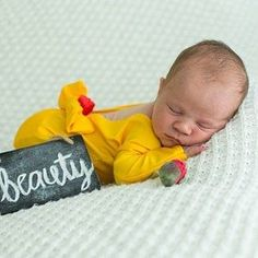 Newborn Princess Outfit Beauty and the Beast Outfit Princess | Etsy Handmade Halloween Costumes, Fun Halloween Crafts, Baby Halloween, Newborn Photography Poses, Newborn Session, Photography Ideas, Baby Girl Gifts, Gifts For Girls, Disney Outfits
