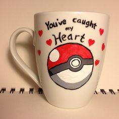 Pokeball Mug by DalektableMugs on Etsy, $12.00