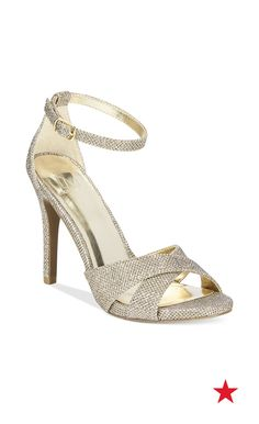 Hit the dance floor on prom night in these sparkly Material Girl evening sandals and it'll be all eyes on you from the first song to the last