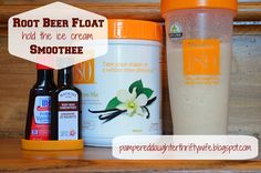 Root Beer Float (hold the ice cream) Smoothee using Shaklee 180 smoothee mix  Order Products Here:http://tufffit.myshaklee.com/us/en/category.php?main_cat=WeightManagement