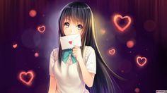 Аниме девушка с письмом