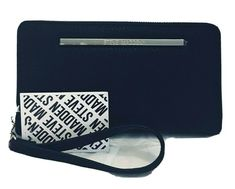 Steve Madden Wallet Wristlet Clutch Organizer Zip Around Black Faux Leather #SteveMadden Clutch Wallet, Leather Wallet, Christmas Holiday, Holiday Gifts, Fabric Wallet, Women's Wallets, Black Wallet, Black Faux Leather, Wallets For Women