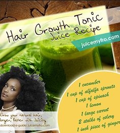 Have you tried juicing for hair growth? Here's a Hair Growth Tonic Juice Recipe that your locks will love.