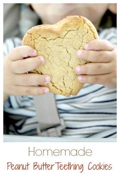 Homemade Peanut Butter Teething Cookies for toddlers!  Such a great idea to make your own!  #ad #NutritionintheMix #Walmart