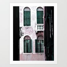 Green Shutters Art Print by Alexandra Aldridge - $22.00