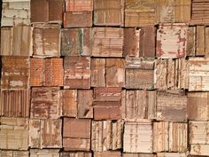 Artist: JC Smith - recycled book bindings