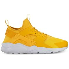 Nike Men's Air Huarache Run Ultra Casual Sneakers from Finish Line ($120) ❤ liked on Polyvore featuring men's fashion, men's shoes, men's sneakers, mens sneakers, nike mens sneakers, nike mens shoes and mens shoes